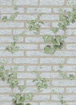 Erismann MIX Collection/Bestseller 01584-10 Natur borostyánnal futtatott téglafal törtfehér szürke bézs zöld tapéta