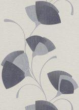 Erismann MIX Collection/Bestseller 02458-10 Absztrakt stilizált levelek szürkésfehér szürke ezüst fekete csillogó hatás tapéta