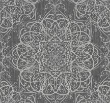 Erismann MIX Collection/Bestseller 02465-10 Klasszikus rokokó jellegű díszítőminta sötétszürke ezüst csillogó hatás tapéta