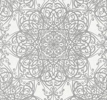Erismann MIX Collection/Bestseller 02465-30 Klasszikus rokokó jellegű díszítőminta fehér ezüstszürke csillogó hatás tapéta