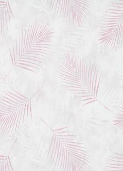 Erismann Fashion for Walls 02579-05 Natur botanikus pálmalevelek krém rózsaszín pink tapéta