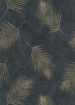 Erismann Fashion for Walls 02579-40 Natur botanikus pálmalevelek antracit fekete arany tapéta