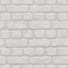 Ashford & Sons 0311324 Natur/Ipari design téglaminta grafikai 3D fehér szürkésfehér szürke természetes sima felület tapéta