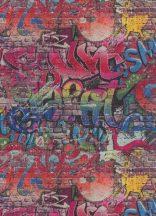 Erismann MIX Collection/Bestseller 05530-10 Grafikus szines graffiti mintás tapéta