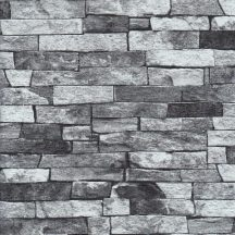 Erismann MIX Collection/Bestseller 05546-30 Natur kőmintázat szürkésfehér szürke árnyalatok fekete tapéta