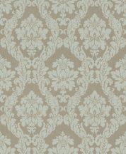 Rasch Textil Da Capo 085777 klasszikus barokk díszítőminta bézs mentazöld ezüst tapéta