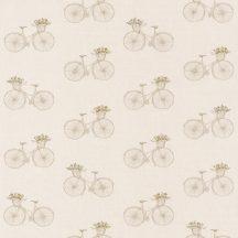 Sunny Day 100241017 DAISY  Romantikus régimódi kerékpárok bézs barna árnyalatok tapéta
