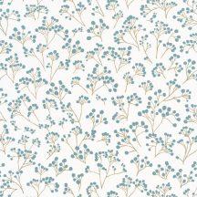 Caselio Sunny Day 100256032  POPPY Natur bimbózó pipacsok fehér kékeszöld arany tapéta