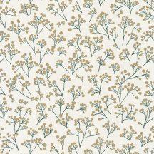 Caselio Sunny Day 100257130  POPPY Natur bimbózó pipacsok krém gazdag zöld arany tapéta