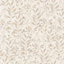 Sunny Day 100261010 LAURA Natur mezei növények virágok krém bézs barna szürke tapéta