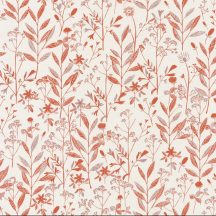 Sunny Day 100264044 LAURA Natur mezei növények virágok krém barna meleg terrakotta tapéta
