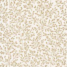 Caselio Sunny Day 100272020 LUCY Natur ágak levelek krémfehér csillogó arany tapéta
