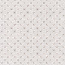 CAROLINE Geometrikus rácsos minta virágmotívummal krém bézs barna tapéta