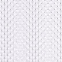 Mistinguett Geometrikus rombuszminta hűvös fehér halvány szürke csillogó ezüst tapéta