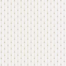 Mistinguett Geometrikus rombuszminta krémfehér bézs csillogó arany tapéta