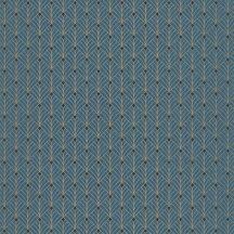 Mistinguett Geometrikus rombuszminta kékeszöld csillogó arany tapéta