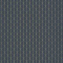 Mistinguett Geometrikus rombuszminta sötétkék csillogó arany tapéta