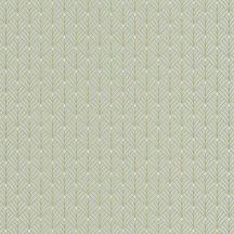 Mistinguett Geometrikus rombuszminta világoszöld csillogó arany tapéta