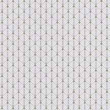 Mistinguett Geometrikus rombuszminta hűvös fehér barna csillogó arany tapéta