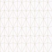 100441066 CHRYSLER Geometrikus kortárs megjelenítés hűvös fehér csillogó arany tapéta