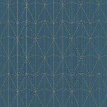 100446060 CHRYSLER Geometrikus kortárs megjelenítés telt kékeszöld csillogó arany tapéta
