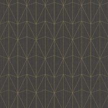 100449134 CHRYSLER Geometrikus kortárs megjelenítés telt sötétbarna csillogó arany tapéta