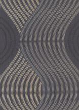 Erismann Fashion for Walls 10045-15 Grafikus nagyformátumú hullámminta szürke fekete ezüst csillogó hatás tapéta
