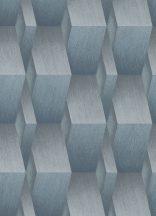 Erismann Fashion for Walls 10046-08 Indusztriális Geometrikus 3D minta szálcsiszolt felület acélkék szürke ezüst csillogó fémes hatás tapéta
