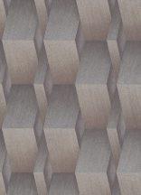 Erismann Fashion for Walls 10046-30 Indusztriális Geometrikus 3D minta szálcsiszolt felület acélszürke aranybarna ezüst csillogó fémes hatás tapéta