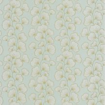 Scarlett 100487003 GINGKO Natur stilizált gingko levelek világoszöld csillogó arany tapéta