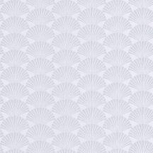 Caselio Scarlett 100490198 PEARL Natur legyezőminta világos szürkésfehér csillogó ezüst tapéta