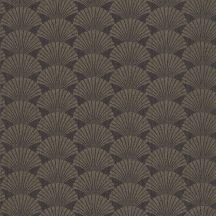 Caselio Scarlett 100499029 PEARL Natur legyezőminta telt barna csillogó arany tapéta