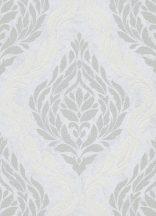 Erismann Carat 10060-31 Klasszikus barokk díszítőminta krémszürke szürke ezüst fénylő mintafelület tapéta