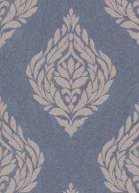 Erismann Carat 10060-44 Klasszikus barokk díszítőminta kék bézs/világosbarna csillámló mintafelület tapéta