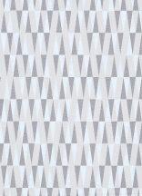 """Erismann Carat 10061-14 Geometrikus """"hegyes"""" háromszögek krém bézs szürke fénylő mintafelület tapéta"""