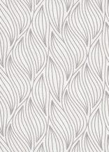 """Erismann Carat 10063-14 Grafikus strukturált hullám """"lángnyelv"""" minta krém szürke csillámló mintafelület tapéta"""