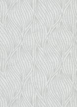 """Erismann Carat 10063-31 Grafikus strukturált hullám """"lángnyelv"""" minta krémszürke ezüst csillámló mintafelület tapéta"""