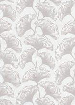 Erismann Carat 10064-14 Natur gingko levelek krém szürkésbézs csilámló mintafelület tapéta