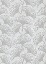 Erismann Carat 10064-31 Natur gingko levelek krémszürke ezüst csilámló mintafelület tapéta
