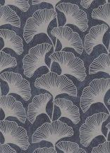 Erismann Carat 10064-37 Natur gingko levelek antracit szürkésbarna csilámló mintafelület tapéta