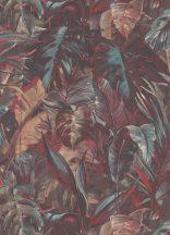 Erismann Instawalls 2, 10081-04  Natur dzsungel trópusi levelek kék piros narancs barna fehér tapéta