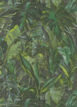 Erismann Instawalls 2, 10081-07  Natur dzsungel trópusi levelek zöld árnyalatok szürke fehér tapéta