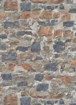 Erismann Instawalls 2, 10092-04 Ipari design természetes kőfal minta bézs barna szürke narancs kék tapéta