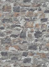 Erismann Instawalls 2, 10092-10 Ipari design természetes kőfal minta szürke barna tapéta