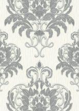 Erismann Spotlight 10102-10 Klasszikus fenséges barokk díszítőminta fehér szürke ezüst tapéta
