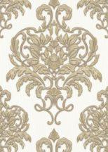 Erismann Spotlight 10102-30 Klasszikus fenséges barokk díszítőminta krémfehér bézsarany arany tapéta