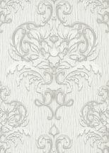 Erismann Spotlight 10102-31 Klasszikus fenséges barokk díszítőminta szürkésfehér szürke ezüst tapéta