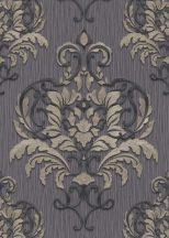 Erismann Spotlight 10102-34 Klasszikus fenséges barokk díszítőminta sötétszürke antracit ezüst arany tapéta