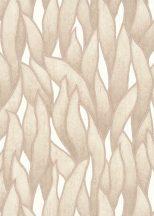 Erismann Spotlight 10104-02 Natur Stilizált levélmintázat bézs zöld szürke tapéta