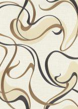 Erismann Spotlight 10105-30 Retro Grafikus díszítő (szalag) minta krémfehér krém antracit arany tapéta